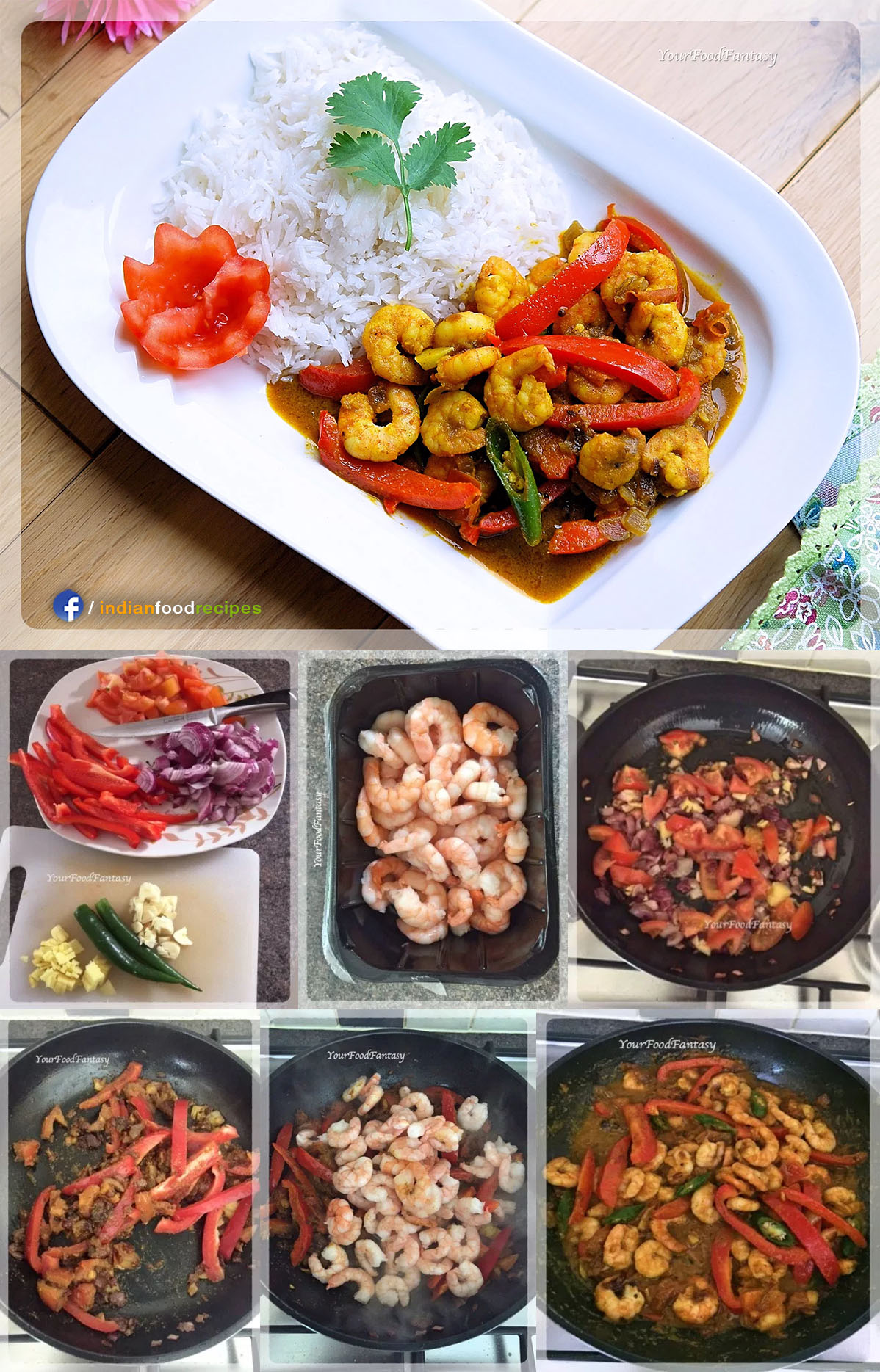 Prawn Capsicum Curry recipe step by step pictures