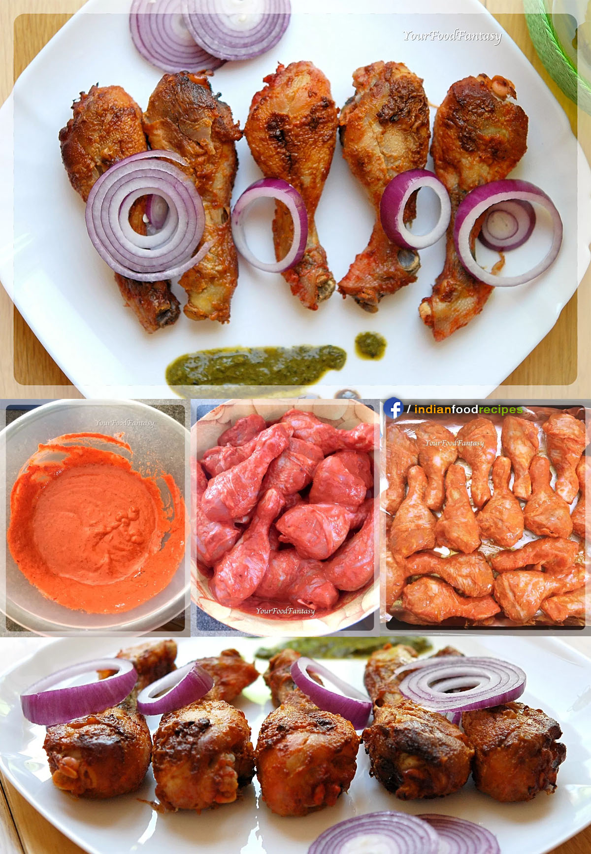Tandoori Chicken in Oven recipe step by step pictures