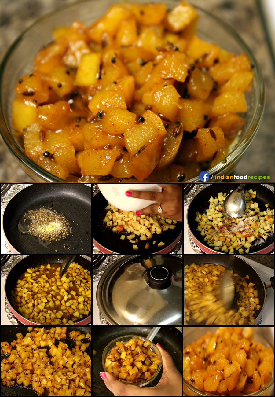 Apple Launji recipe (step by step) pictures