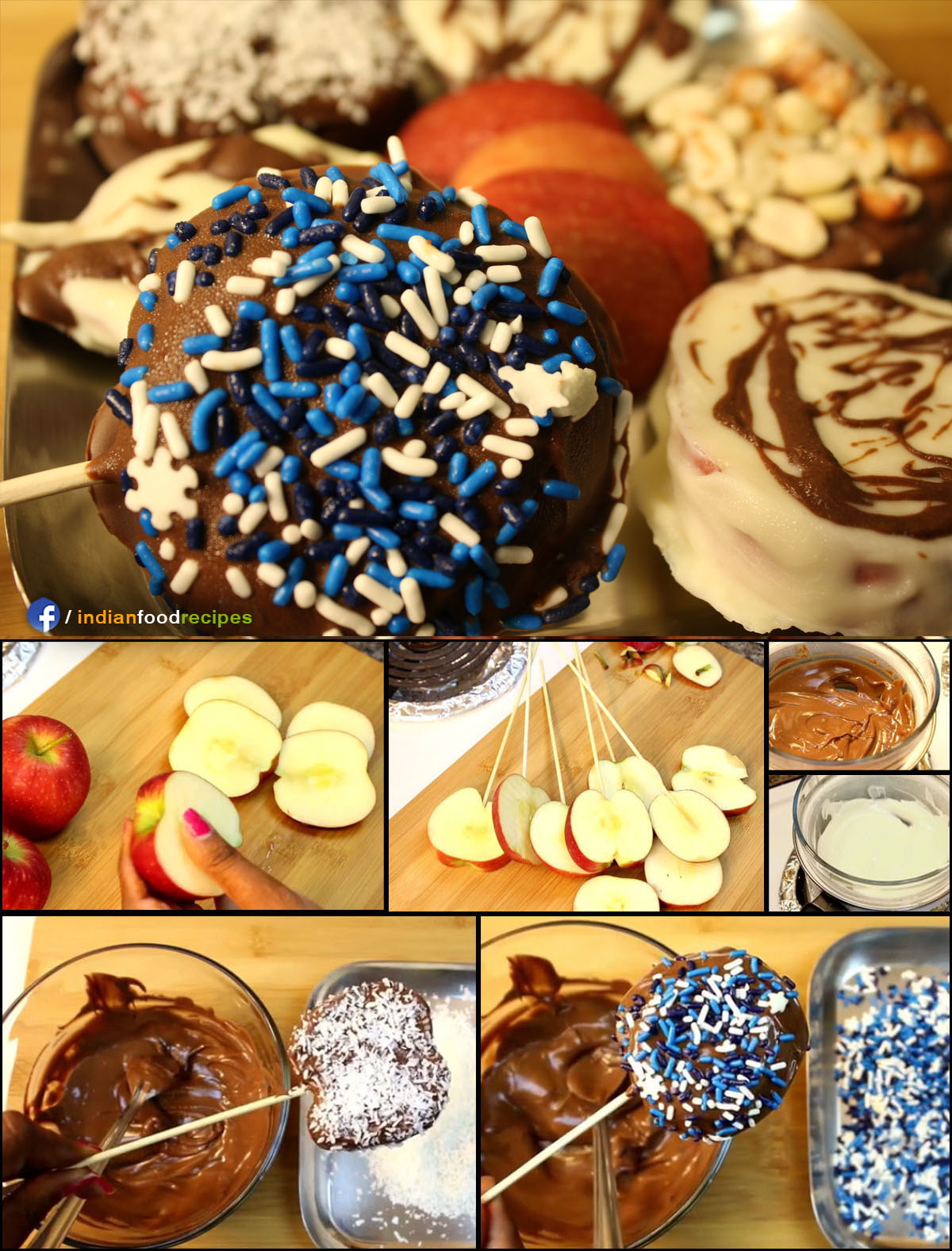 Chocolate Apple Candy recipe (step by step) pictures