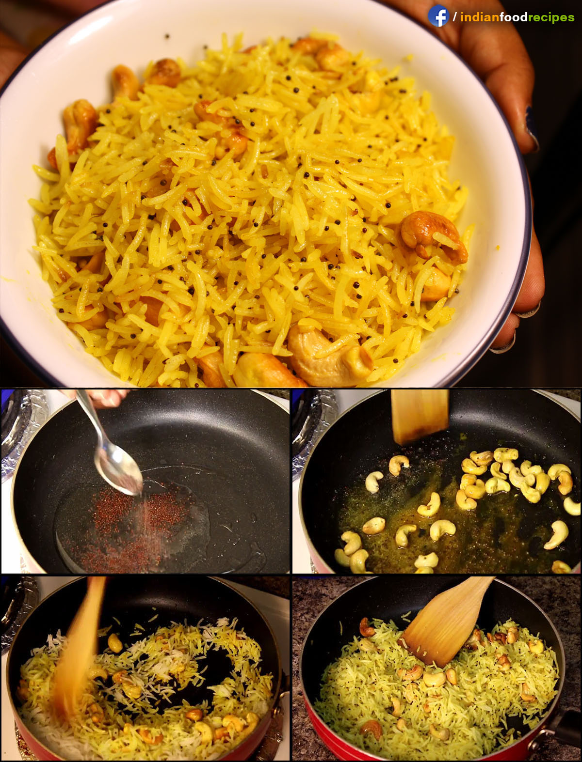 Kaju Rice / Cashew Rice recipe (step by step) pictures