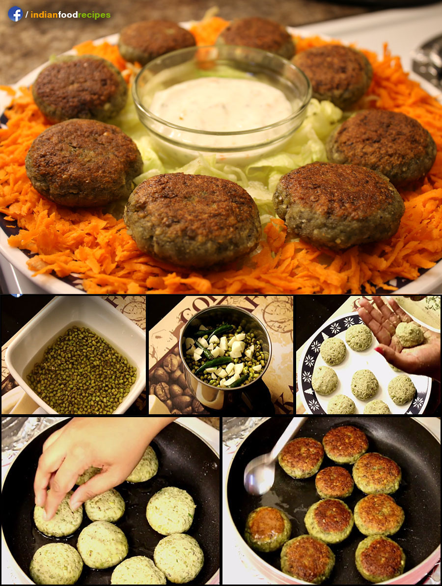 Sprouted Moong Cutlets recipe (step by step)