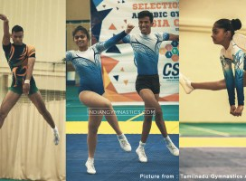 Indian Team for 1st Aerobic Gymnastics Asian Cup