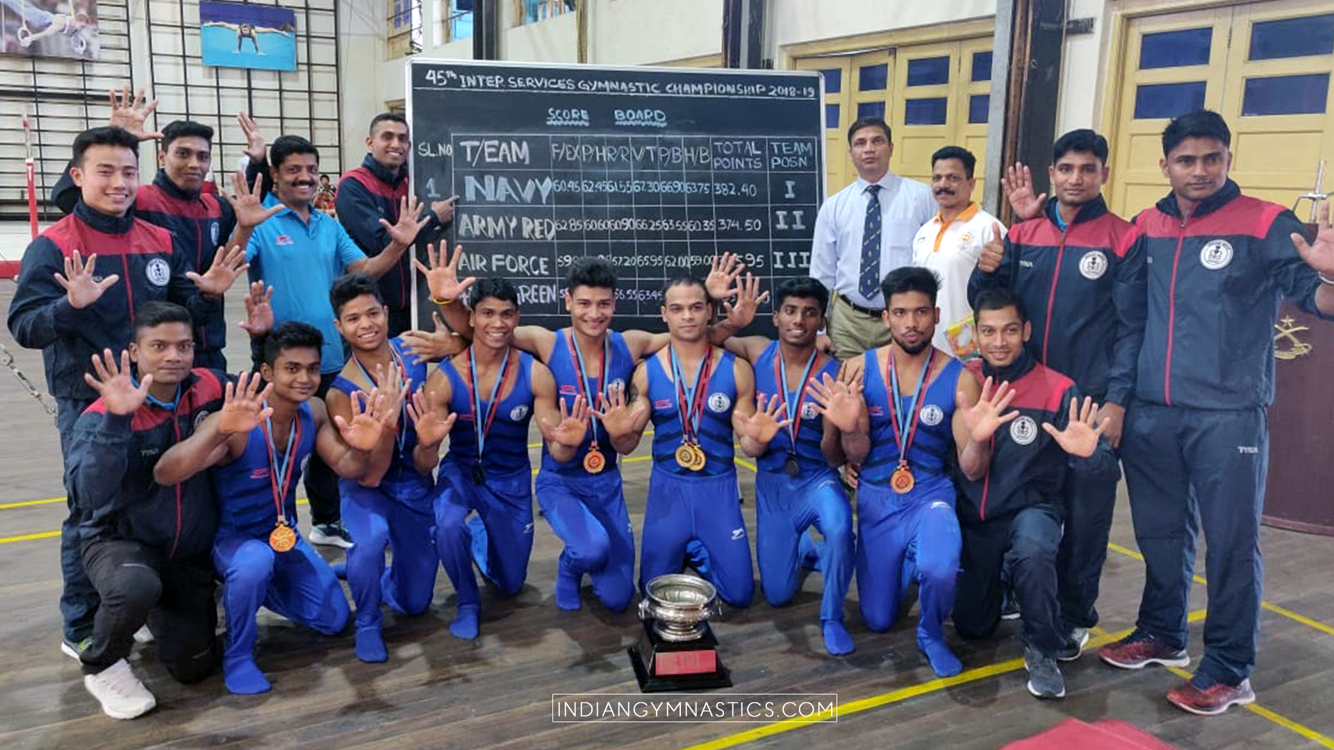 Navy wins their 10th consecutive Inter-Services Gymnastics Championships Title