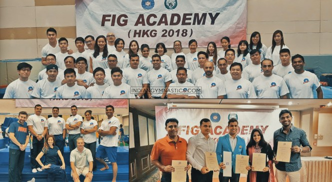 Indian Coaches at FIG Level 2 International Coaching Course