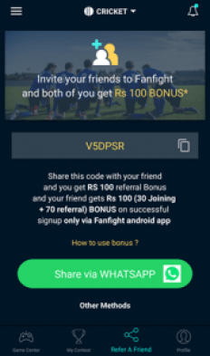 FanFight Refer And Earn