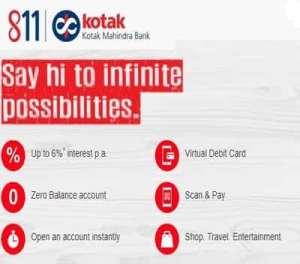 Open Kotak 811 Savings Account Online With Zero Balance