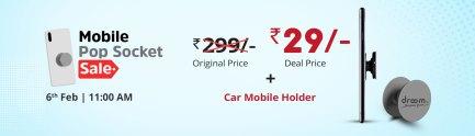 Droom Mobile Pop Socket Next Sale Date