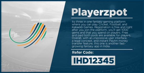 Playerzpot At No 5 Fantasy Cricket App List Download