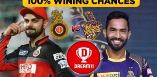 IPL 2019 ( 17th Match) KKR VS RCB Dream 11 team & Playing XI