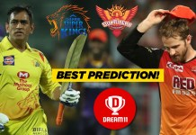 IPL 2019, 33rd Match: CSK vs SRH Best Dream11 Team Today Predictions