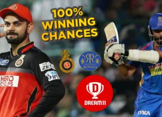 RCB vs RR Dream11 Team Prediction Today Match