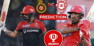 IPL 2019, 42nd Match: KXIP vs RCB Dream11 Team Prediction, Playing XI