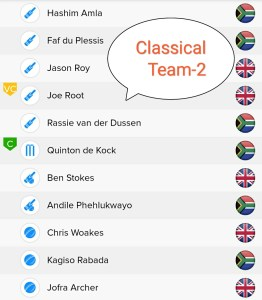 ENG vs SA BalleBaazi Team -2 For Classical Leagues ENG vs SA BalleBaazi Team