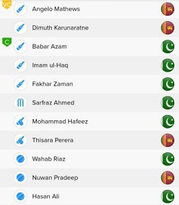 ICC WC 2019, PAK vs SL BalleBaazi Fantasy Team