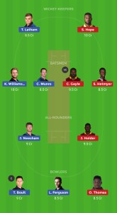 WI Vs NZ Dream11 Team Prediction For Today's Match