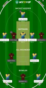SL VS WI MY11VIP Fantasy Team