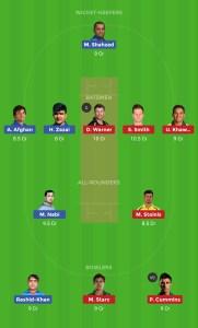 Grand League Dream11 Team For 3rd Match AFG vs AUS