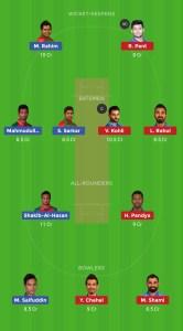 IND VSBAN Dream11 Team