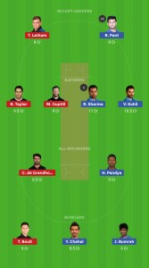 IND vs NZ Dream11 Grand League Teams For Todays Match