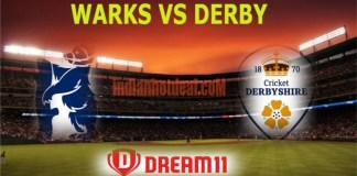 WARKS VS DERBY Dream11 Team Prediction, English T20 Blast 2019