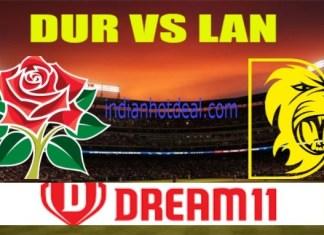 DUR VS LAN Dream11 Team Prediction, English T20 Blast 2019
