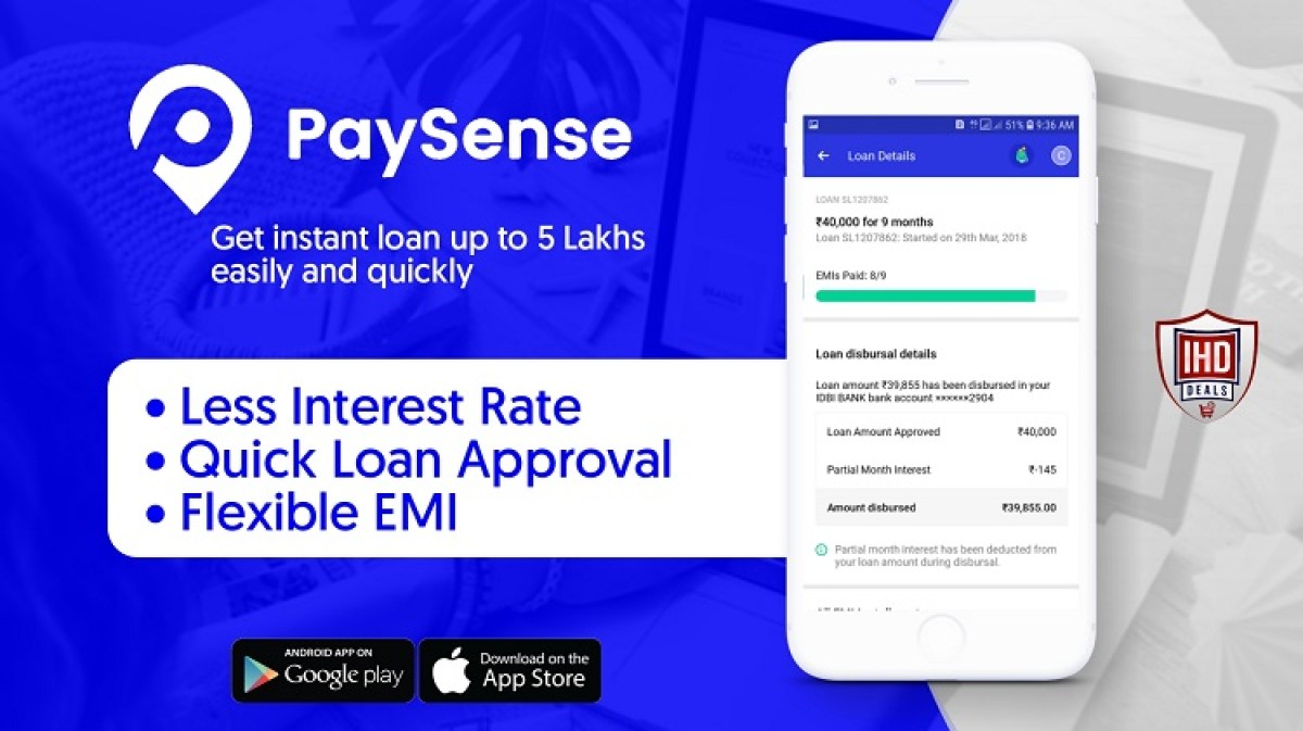 Flexible personal loan app PaySense.
