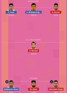 HYD vs MUM Dream11 Team For Small League