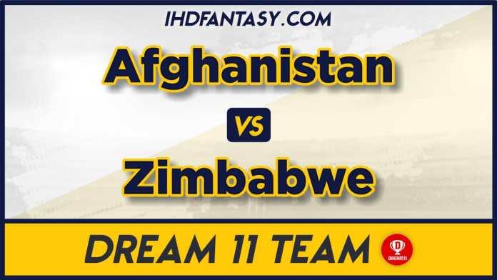AFG vs ZIM 5th T20 Dream11 Team