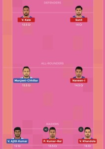Pro Kabaddi TAM vs HAR Dream11 Team For Head To Head League