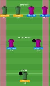 BEN vs BLR: MyTeam11 Fantasy Kabaddi Team For Todays Match