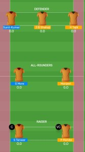 PUN vs GUJ: MyTeam11 Fantasy Kabaddi Team For Todays Match