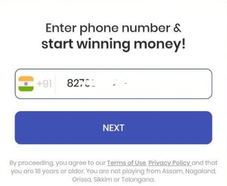 gamezop enter mobile number