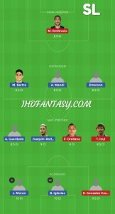 RB vs EIB Dream11 Team H2H Leagues