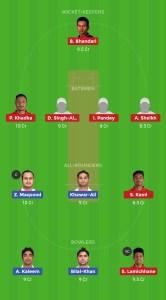 IRE vs NEP Dream11 Team for grand league