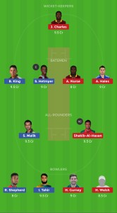 GUY vs BAR Dream11 Team for grand league