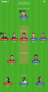ENG vs NZ Dream11 team for Grand league
