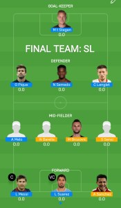 FINAL: BAR vs INT Myteam11 Fantasy Football Team (H2H)