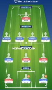 BAR VS SEV BalleBaazi Fantasy Football Team (H2H)