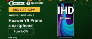 Today's Amazon Quiz Answers