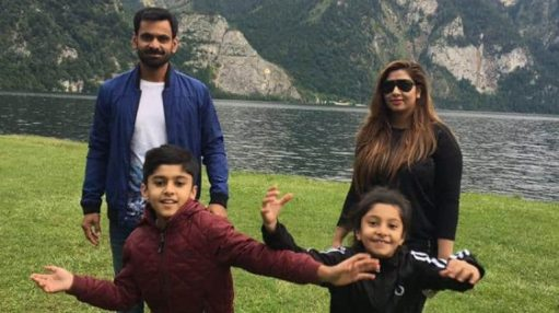Muhammad Hafeez with his family