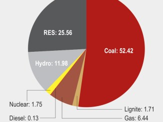 Installed capacity mix (as of July 2021) (%)