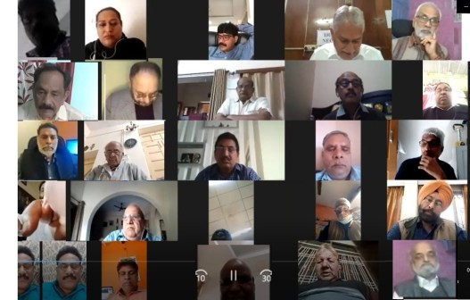 A screen grab of the IJU NEC virtual meeting on 24 November.