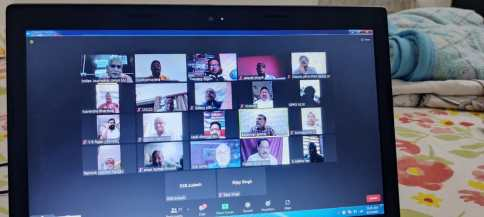 NEC Members Participated In The Online Meeting On 12th September