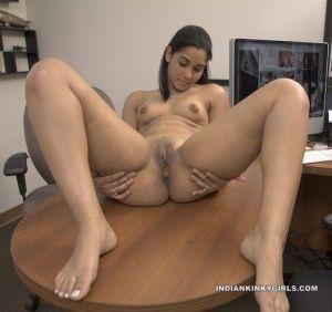 Indian secretary nude masturbating for boss