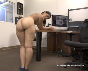 Indian secretary nude showing sexy big ass