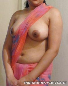 Indian Wife Topless Exposing Big Milky Boobs