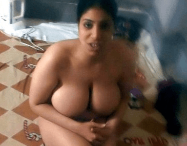 Huge Tits Desi Wife Naked In Bed Teasing Lover Secretly