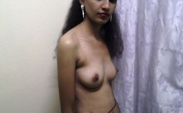 Skinny Indian Nurse Stripping Naked For Doctor