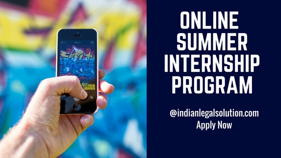 Online summer internship